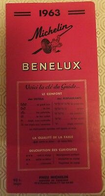 Guide MICHELIN BENELUX 1963,pour les collectionneurs de guides