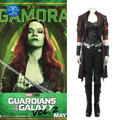 Guardians of the Galaxy Vol. 2 Gamora Cosplay Costume Halloween Outfit Full Set