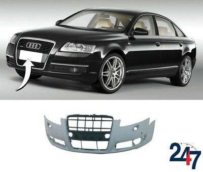 New Audi A6 C6 2005 - 2008 Front Bumper With Light Washer And Pdc Holes