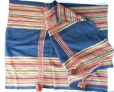 "Large Old Tribal Textile – Hmong Hilltribe People Laos – 52"" x 72"" - Homespun"
