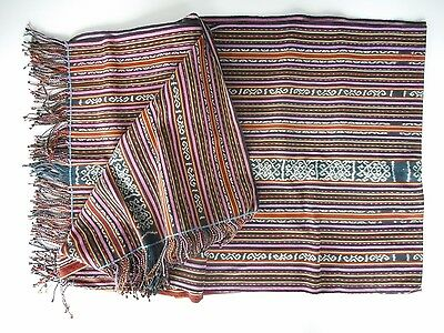 "Large Woven Tribal Textile / Ikat Textile Timor Indonesia - 36"" x 78"""