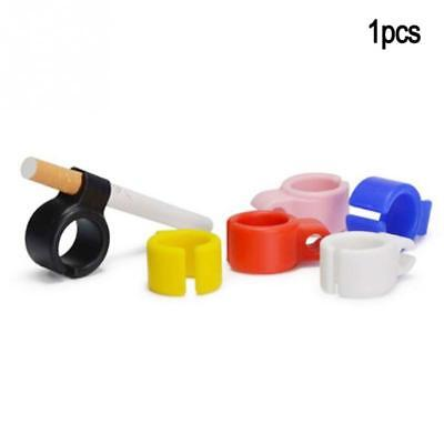 1pc Smoking Cigarettes Tobacco Weeds Joint Holder Ring free hand Silicone