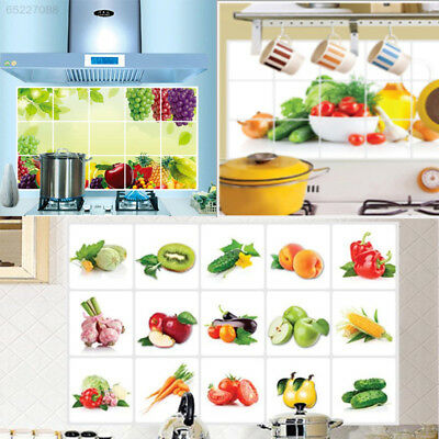6B76 Wall Stickers Kitchen Fruits Decal Sticker Proof Decor DIY Appliques Wallpa