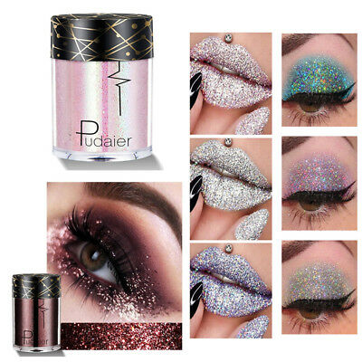 Pudaier Holographic Sequins Glitter Shimmer Pigment Eye Shadow Body Tattoo Hot