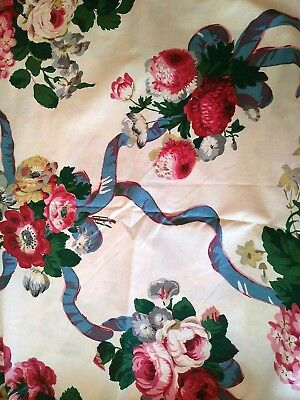 Vtg Titley & Marr Belgravia Country Floral Ribbon Print 2 3/4 yds Rose Bouquet
