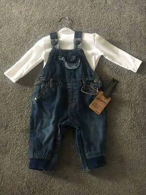 baby boy dungarees 3-6 months