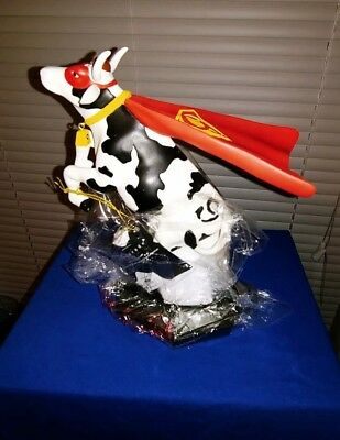"""Cow Parade Figurine - """" Super Cow"""" ( #7712 - Retired & RARE ) Hand Numbered"""