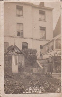 Old Photo Woman Fashion Buildings House Wigan Cork Ireland 1910S Nb5