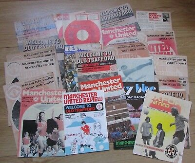 Vintage Mixed Lot Of Manchester United Fc Man Utd Programs Football Memorabilia