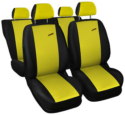 Car seat covers fit Renault Clio - XR black/yellow full set sport style