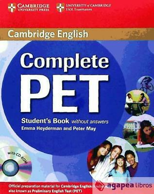 Complete PET Student's Book without answers with CD-ROM. NUEVO. ENVÍO URGENTE