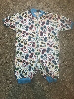 Womens Mickey Mouse Pajamas vintage one piece Mickey unlimited Small ears button