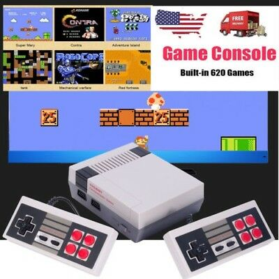 Vintage Retro Video TV Game Console Classic 620 Built-in Games With 2 Controller