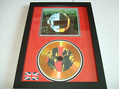 Daft Punk  Signed  Gold Cd  Disc