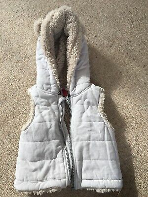 the little white company Grey Gillet 0-3 Months
