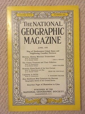 National Geographic June 1950 Magazine - 1 of 100+ available editions