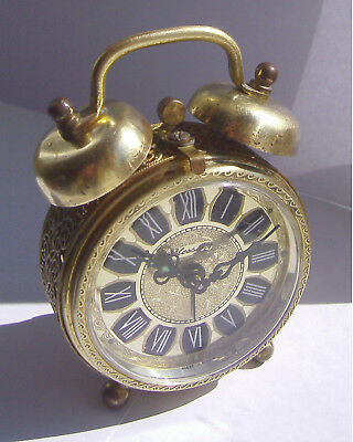 Vintage - Mechanical - Blessing - Twin Bell - German - Alarm Clock - 50/60's