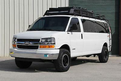 2003 Chevrolet Express Passenger Quigley 4WD Lifted, Overlanding Adventure Van Lifted Quigley 4x4 Must see, Roof top tent, roof rack, ladders, Rigid LED's,