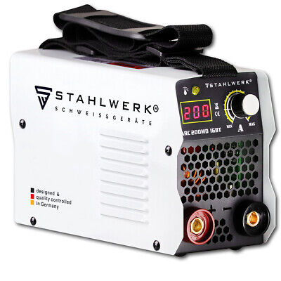 Welder STAHLWERK ARC 200 MD IGBT 200 Amps STICK MMA Welding Machine with Display