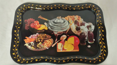 MINT! Vintage Coca-Cola Advertising TV Tray Cheese Fondue Promotional Item