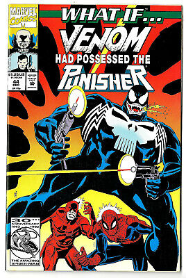 WHAT IF # 44 (2nd series) 1992 Marvel (vf-) Venom / Punisher /Spidey / Daredevil