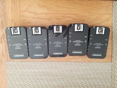 5 X YONGNUO YN622C II Wireless TTL Flash Trigger Controller for Canon UK