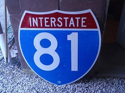 Authentic Interstate Highway Sign Pennsylvania Rt 81 Reflective