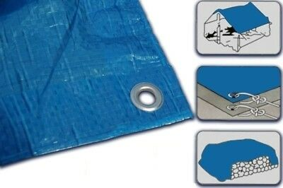 ALL Sizes Of Heavy Duty Tarpaulin Waterproof Cover Tarp Ground Camping Sheet BLU