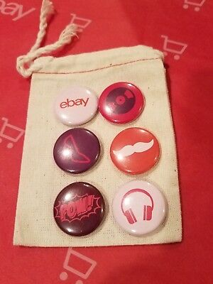 Set Of 6 Collectible ebay pins