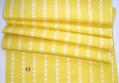 """Vintage Estate 100% Cotton Fabric~Yellow w/White Embroidery~56"""" Long  x 34"""" Wide"""