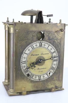 ANTIQUE LONGCASE CLOCK MOVEMENT verge crown wheel escapement FRENCH 8 DAY