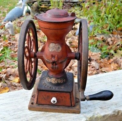 Antique  Enterprise Philadelphia Double Wheel Coffee Grinder General Store