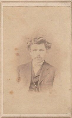 Cdv Civil War Photographerm Momeyer Of M'keesport, Pa,gentleman,sash,curls