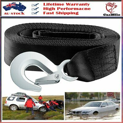 "Heavy Duty Tow Winch Strap 2""x 20' Rope Hook Car Boat Trailer 10000Lb Max Towin"