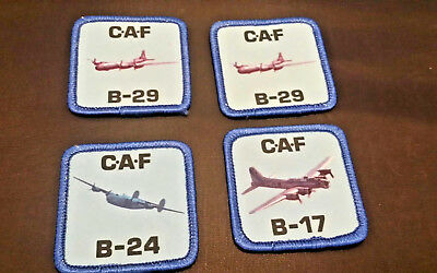 Confederate Air Force Bomber Planes Photo Patches Lot B-24, B-17, & (2) B-29