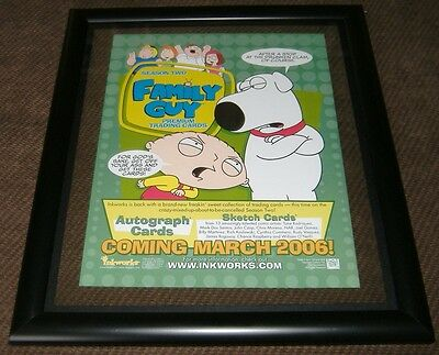 "Family Guy: Mini Poster -Sell Sheet season 2 / Double Sided 8-1/2"" X 11"" Framed"