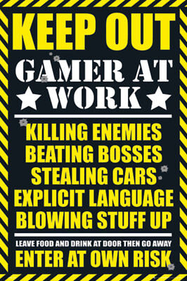 Gaming Keep Out Maxi Poster Print 61x91.5cm | 24x36 inches