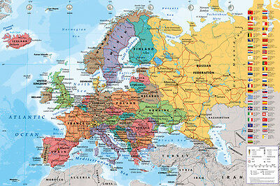 European Map  Educational Maxi Poster Print 61x91.5cm | 24x36 inches