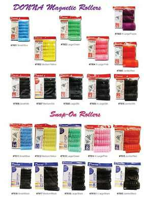 NEW Hair Rollers PROFESSIONAL SNAP ON MAGNETIC All Sizes - Set Hair Dry or Damp