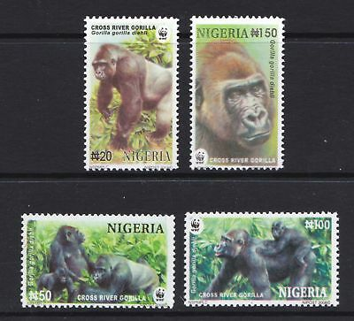 Nigeria 2008 WWF Endangered Species - Gorilla - MNH Set Cat £5 - (176)