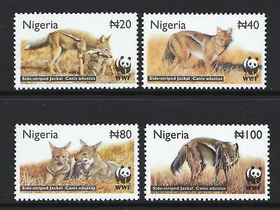 Nigeria 2008 World Wildlife Fund Side-Striped Jackal MNH Set Cat £3.75 - (177)