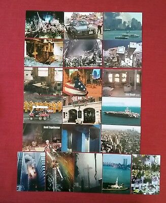 Lot of 20 Different Rare 9/11 World Trade Center Trading Cards Twin Towers
