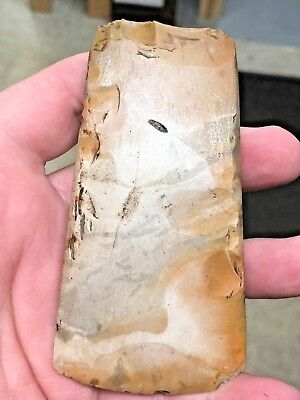 "COLORFUL 4.5"" LONG Danish Polished Flint Celt Adze Neolithic Stone Age Axe Tool"