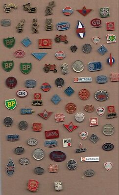 JOB LOT COLLECTION Vintage OIL FUEL PETROL pin badges 1960s ESSO BP SHELL GULF