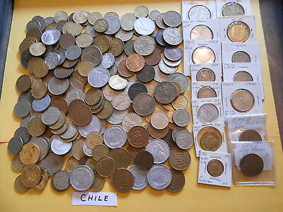 World Coin Lot:  251 Foreign Coins from Chile