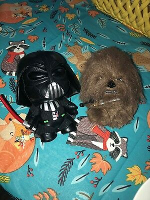 Star Wars Funko Fabrications Darth Vader & Chewbacca Set! Excellent Condition!
