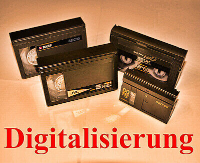 10x Video Kassetten / VHS-C / SVHS-C digitalisieren auf DVD