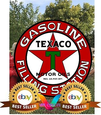 TEXACO Antique Vintage Old Style, Large reproduction sign, Texaco Gas Oil Sign 3