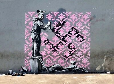 """Print on Glossy Paper or Canvas BANKSY /""""There/'s always hope/"""" Street Artwork"""