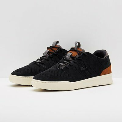 2ce66606d6001 LACOSTE MENS EXPLORATEUR Craft CAM Trainers Black Grey - EUR 115